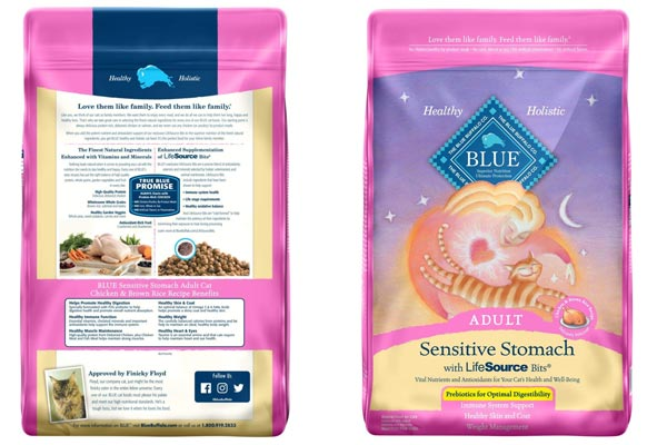 Blue Buffalo Sensitive Stomach Natural Adult Dry Cat Food