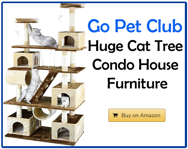 Go Pet Club Huge Cat Tree Condo House Furniture