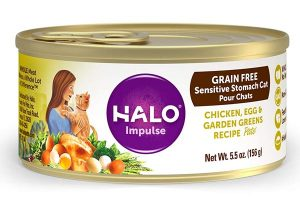 Halo Holistic Grain Free Natural Wet Cat Food for Adult Cats with Sensitive Stomachs