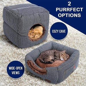 Smiling Paws 2-in-1 Cat Bed