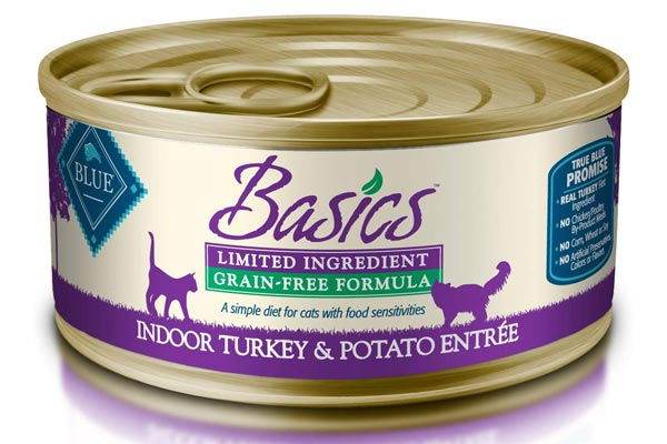 Blue Basics Limited Ingredient Diet Adult Indoor Grain Free Turkey & Potato Wet Cat Food