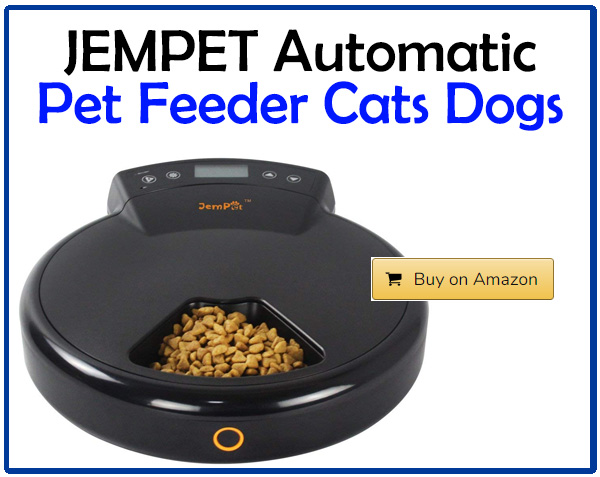JEMPET Automatic Pet Feeder Cats Dogs