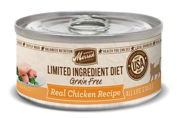 Merrick Limited Ingredient Diet Grain Free Chicken Canned Cat Food