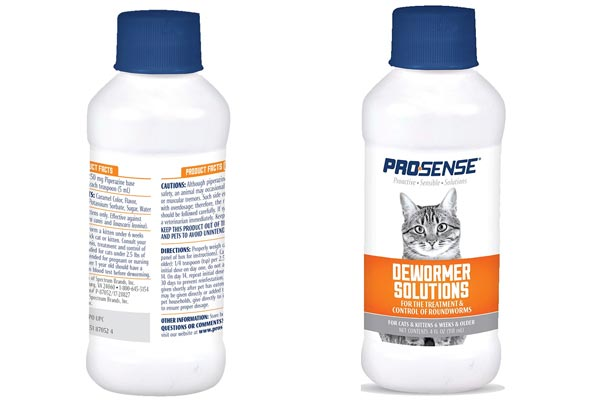 Pro-Sense Liquid Dewormer Solutions For Cats