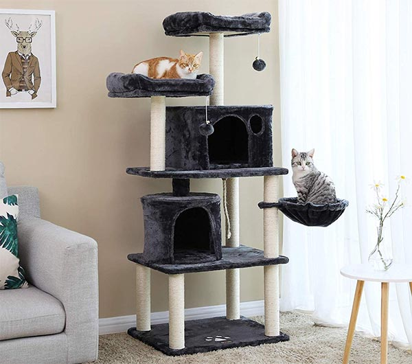 "FEANDREA Multi-Level 60"" Cat Tree"