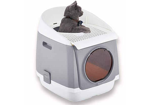 Pakeway Two Door Entry Cat Litter Box