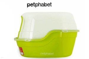 Petphabet Jumbo Hooded Cat Litter Box