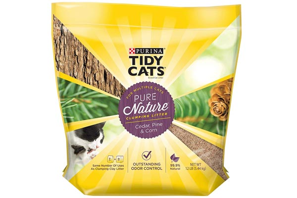 Purina Tidy Cats Pure Nature Cedar Pine & Corn Clumping Cat Litter