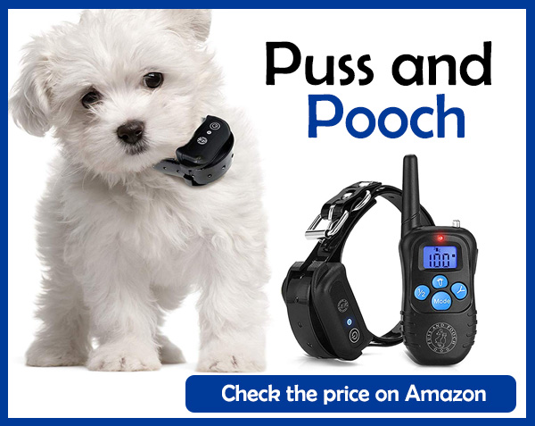 Puss and Pooch Dog Training Collar